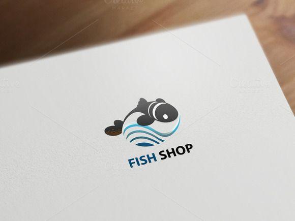 FISH SHOP logotype by Graphicshop on Creative Market