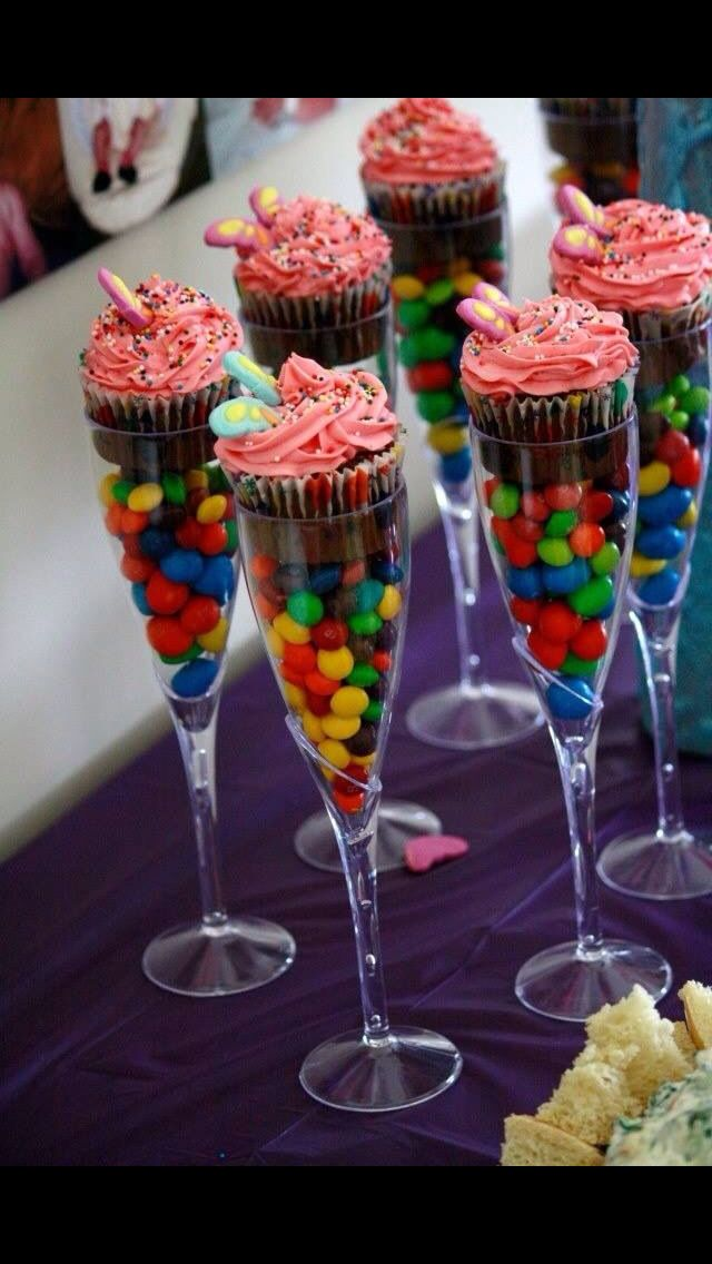 sweets and cupcakes - lovely idea