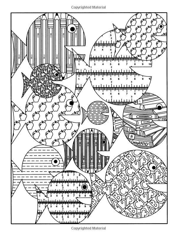 Undersea Designs To Color Dover Nature Coloring Book