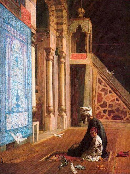 Prayer Time, Blue Mosque, Cairo