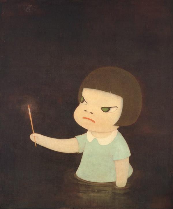 """saygılar. """"huysuz ve tatlı""""ya büyük yorumları için... Yoshitomo Nara'ya..."""