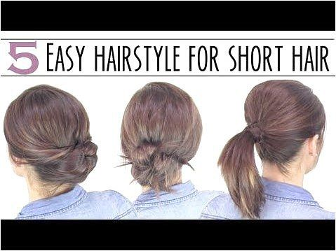 5 easy hairstyles for short hair - LOVE the ponytail parttuck inpin updo! Looks FAB  is easy! - click on the image or link for more details.