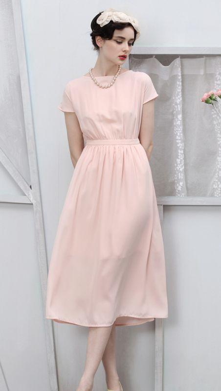 <3 Vintage Vibe [Pink Tea Length]