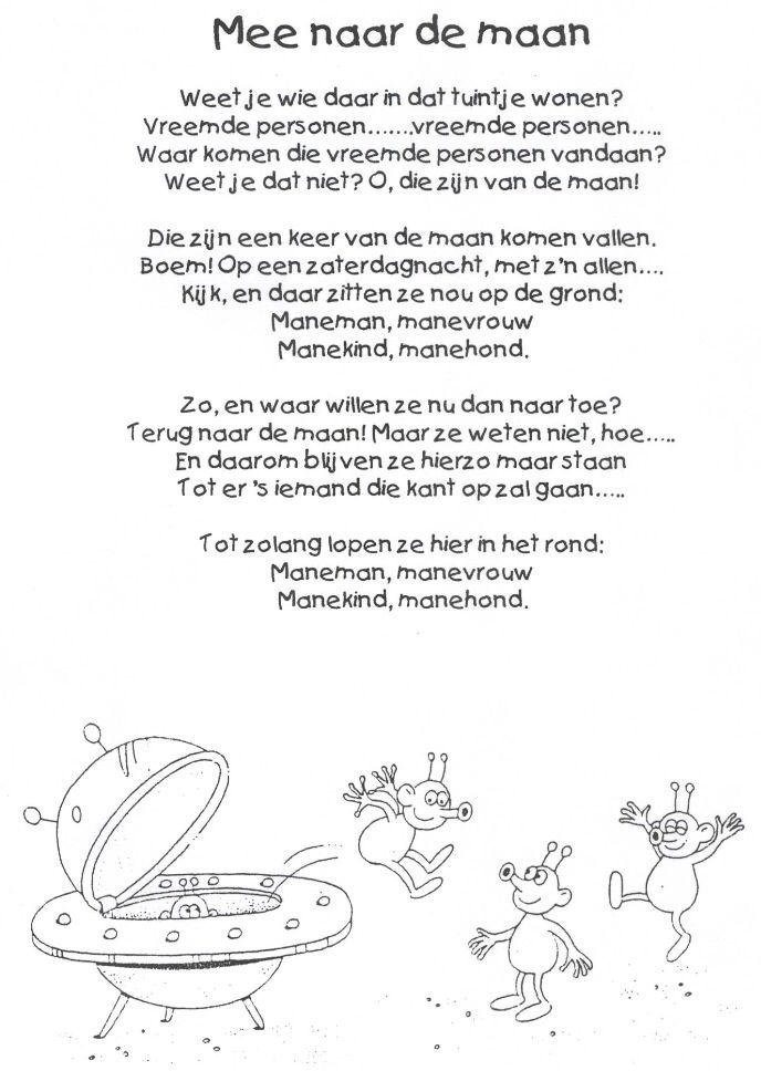 Gedicht: Mee naar de maan