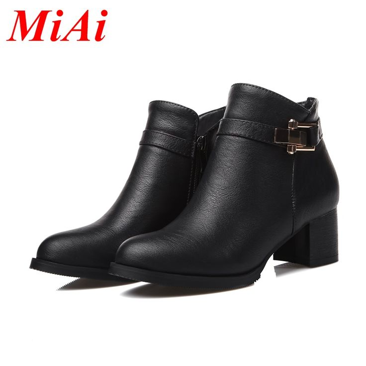 Новое прибытие мода осень обувь женщины ботильоны на высоком каблуке женские ботинки плюс размер 34-45 коренастый каблуки сапоги для верховой езды