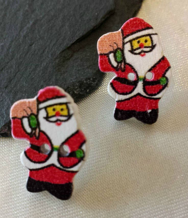 £1.49 plus free p & p and BUY 2 GET 1 FREE BNWT CLIP ON SANTA EARRINGS CHRISTMAS EARRINGS GOLD PLATED CLIP