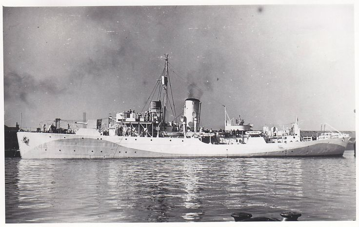 HMS Wallflower, a typical Flower Class Corvette. These vessels were the mainstay of Allied convoys. 267 were built during the war serving as anti-submarine convoy escorts mainly in the Royal and Royal Canadian Navies.