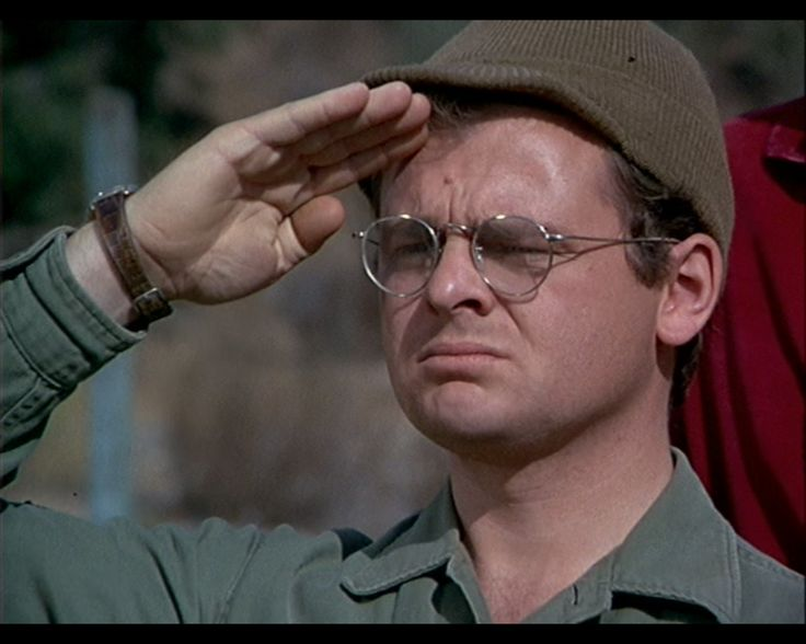 Radar saluting Col. Blake one final time. I can't bear to watch this episode more than once in my life... I just... I just can't.