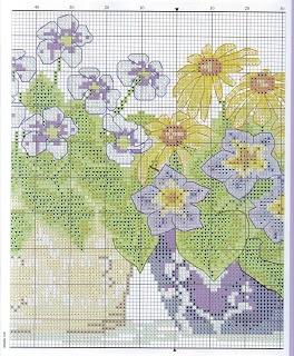 Portale Punto croce: Vasi di fiori