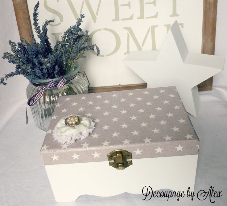 Decoupage box Star