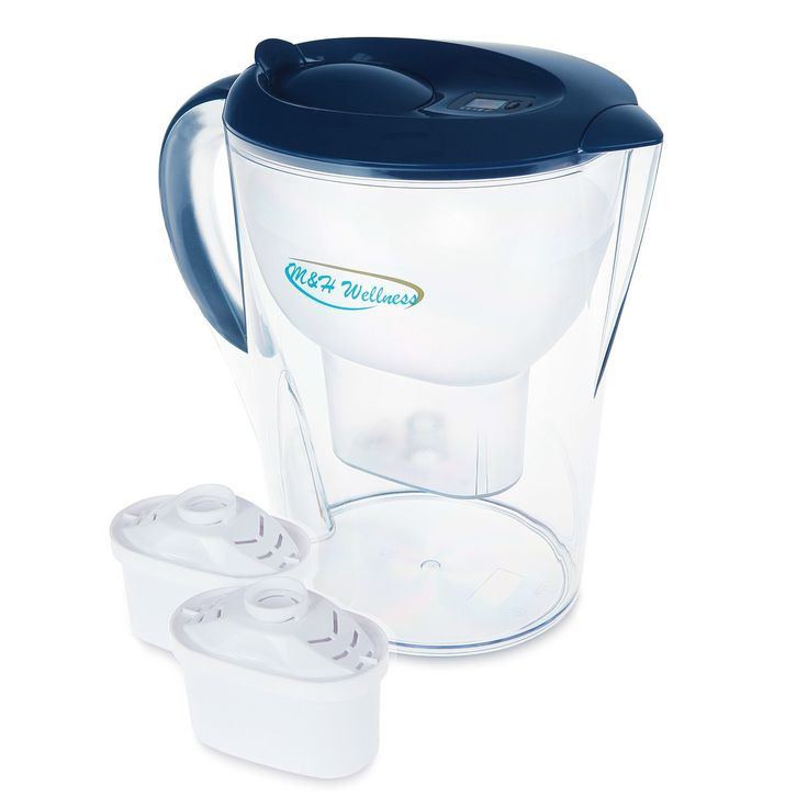 Alkaline Water Pitcher Mineral & Energized 3.5 Liters + 2 Free Filters Replacement cartridge: Instantly Filtered Water, Ph 9-10, BPA Free, Healthy, Pure, Fresh, Good Tasting, Economical