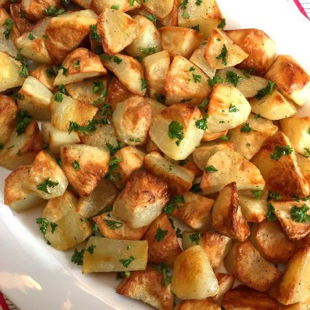 These oven roasted potatoes are amazing! Perfectly golden brown and crispy on the outside, tender on the inside - this is the best roasted potatoes recipe ever! There are so many way to make potatoes - baked, mashed, smashed, boiled, grilled, fried, slow cooked and even microwaved - but my most common cooking method of cooking potatoes is roasting them in the oven. I love making oven roasted potatoes for three main reasons: 1. Simplicity Oven roasted potatoes are very easy to make.  All…