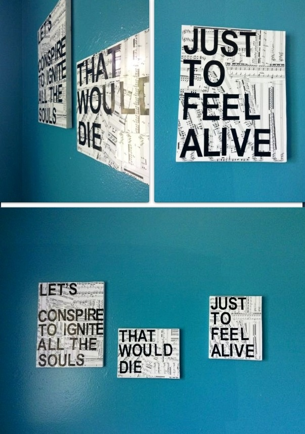 Tumblr Wall Decor Canvas : Sheet music canvas with a quote wall decor check out the