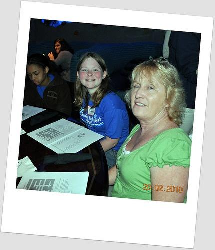 Taking the quiz at  Nashville Aquarium Restaurant