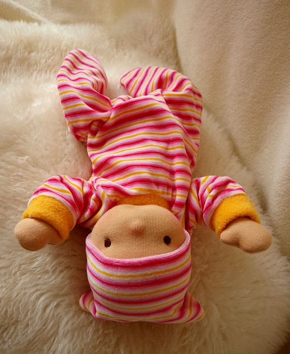 14 Waldorf inspired Baby Doll  weighted nurture girl by ivaDolls