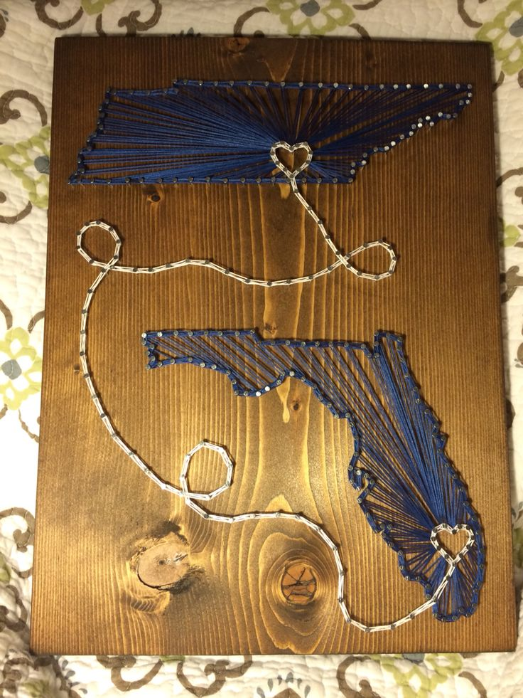 Tennessee Florida State String Art Order From