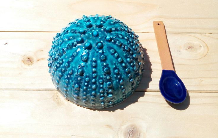 Ciotola riccio ceramica con cucchiaino fatto a mano food safety di LeDueTerreeDintorni su Etsy