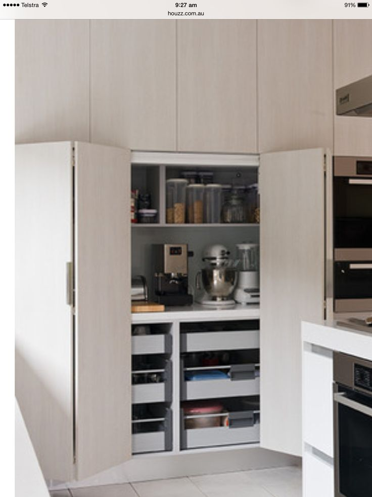 JK> do we want a hideaway appliance nook? Hide away the coffee clutter for seamless look