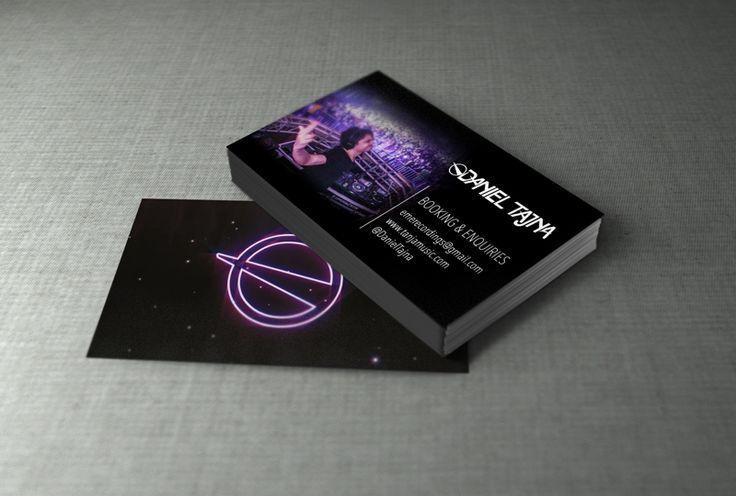 Tarjetas de presentación diseñadas e impresas por Ambros Imprenta Digital y Estudio de Diseño para nuestro Dj favorito Daniel Tajna