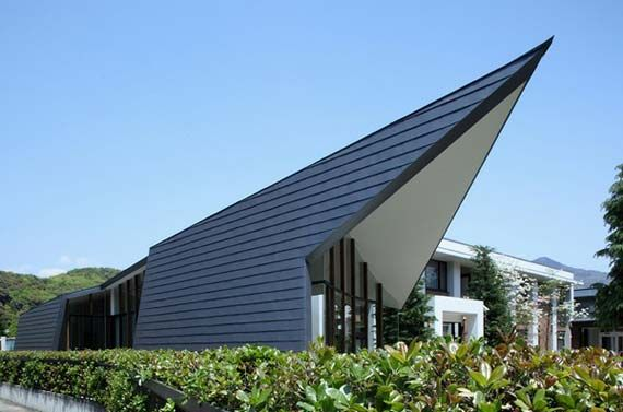 Roofing as cladding