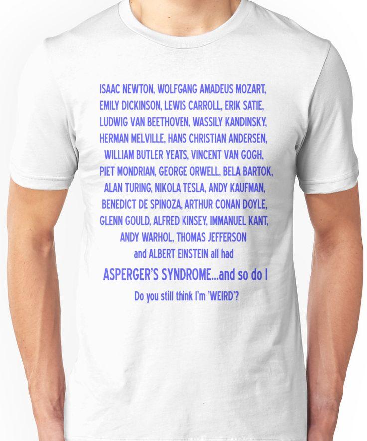ASPERGER'S SYNDROME TEE : PLEASE READ DESCRIPTION Unisex T-Shirt