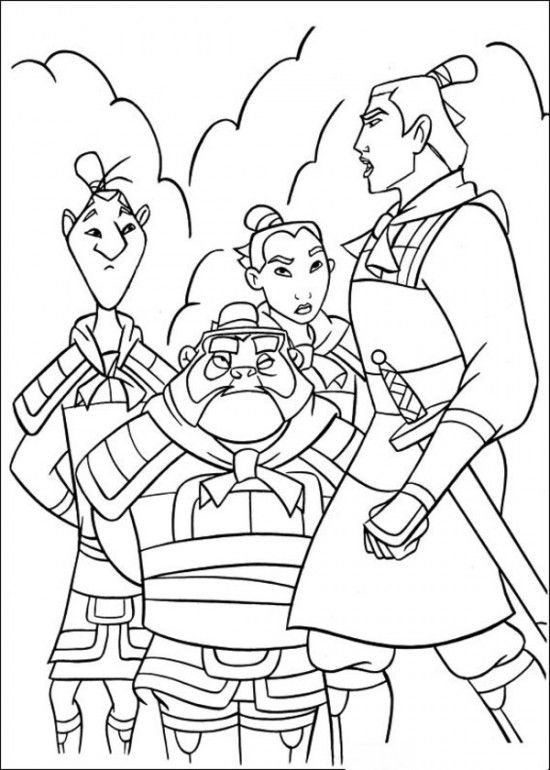 Print Free Coloring Pages Mulan