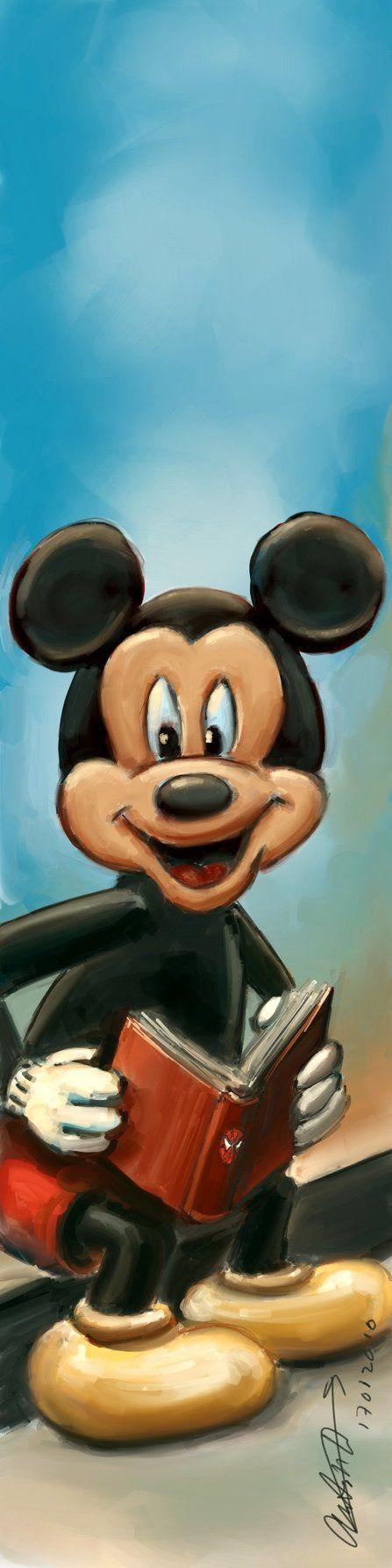 Mickey Mouse Bookmark by antonvandort