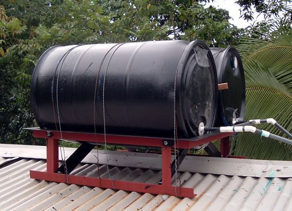diy solar water heater | The Most Basic but Effective DIY Solar Water Heater                …