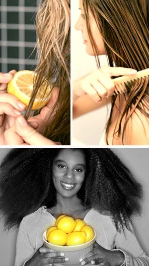 Use lemon juice to naturally highlight your hair. | 13 Simple Beach Beauty Hacks  Just comb it through before you head outside. But be sure to use a hair sunscreen, too — the citric acid in the juice opens your cuticles, making your hair more susceptible to sun damage. But on the bright side, you're going to smell SO GOOD