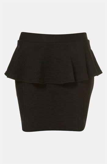 Topshop Ribbed Peplum Miniskirt  #Nordstrom #britishstyle