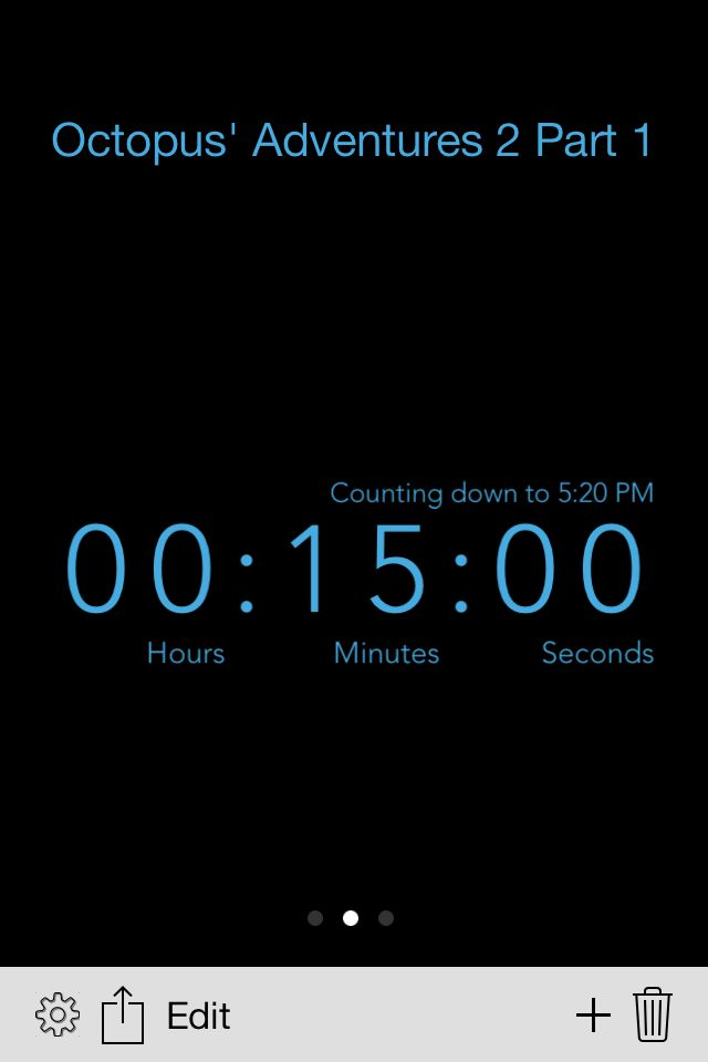 15 minutes!