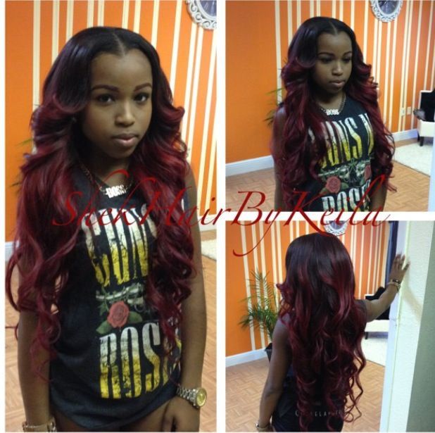 www sew in hair styles the middle part and the curls wonderful weaves 1506