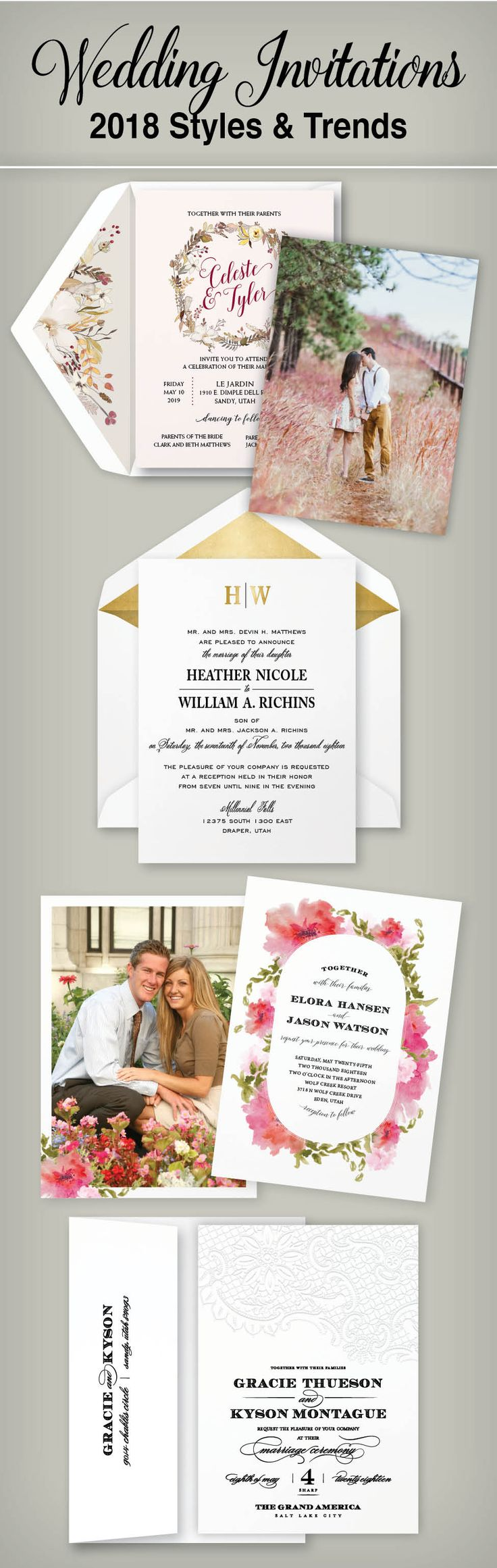 12 best Wedding Invitation Ideas images on Pinterest | Invitation ...