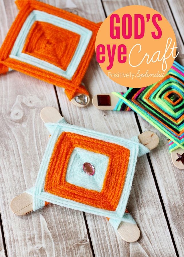 How to make God's eyes - I remember making these when I was little! Such a fun, classic craft for kids!Crafts For Kids, Crafts Ideas, Gods Eye Craft, Splendid Crafts, Art Class, Kids Crafts, Craft Ideas, Classic Crafts, Eye Crafts