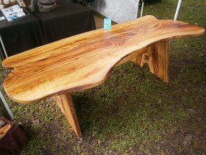 Camphor dining table. $900 Illusive Wood Designs. Custom made furniture