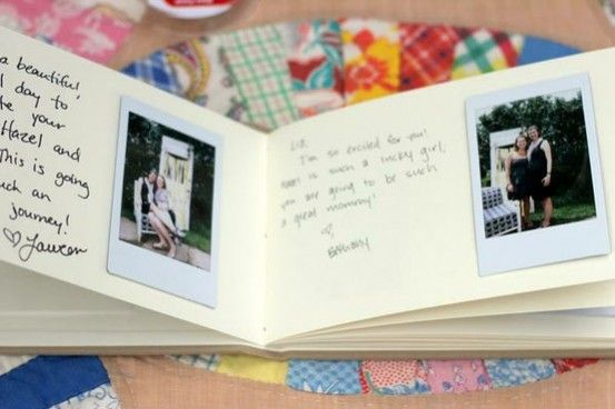 Polaroid Guest Book. Enough room for them to write more than a signature and a good visual of everyone who attended