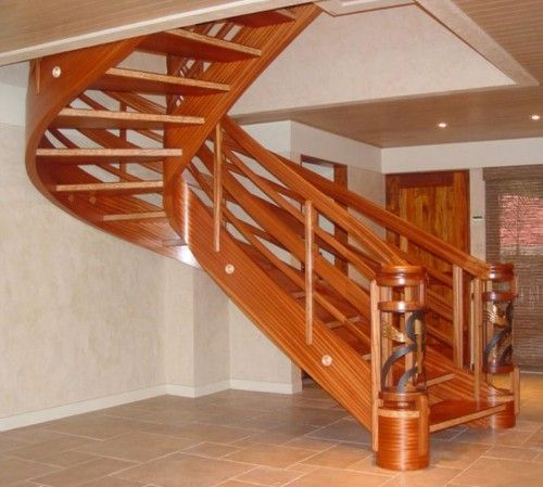 contemporary wooden staircase design