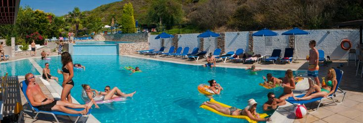 Hotell Sirene i Ixia på Rhodos.