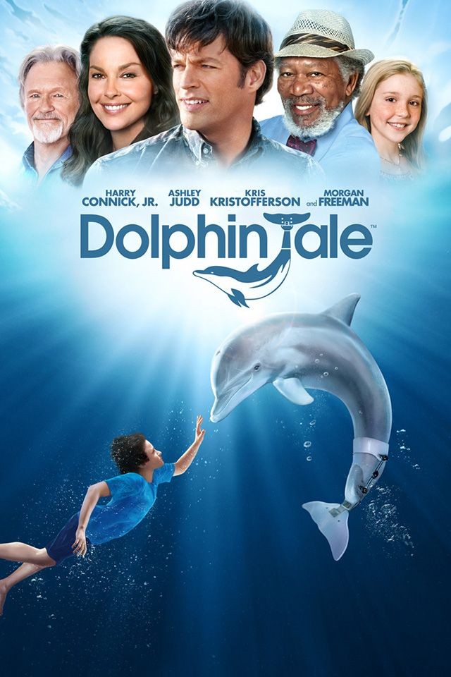 Dolphin Tale (2011) A badly maimed juvenile dolphin is given a new tail, and a new life, through the efforts of the humans who save it in this true-life adventure saga. After losing its tail to a crab trap, the dolphin is doomed until a young boy spots its plight. Morgan Freeman, Ashley Judd, Harry Connick Jr....TS family