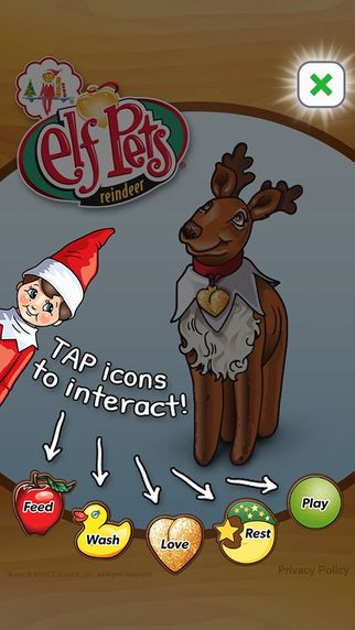 Did you know that your little ones can help build Christmas magic with an app? The Elf Pets Reindeer app allows them to help Santa's sleigh fly by adopting and caring for their very own virtual reindeer pet! Download it here. (Also available in Google Play.)  | Elf on the Shelf | Elf on the Shelf Apps | Elf Pets Reindeer