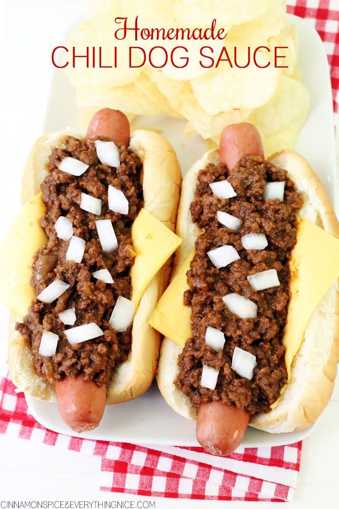 Chili Dog Sauce for Hot Dogs, Burgers & Fries