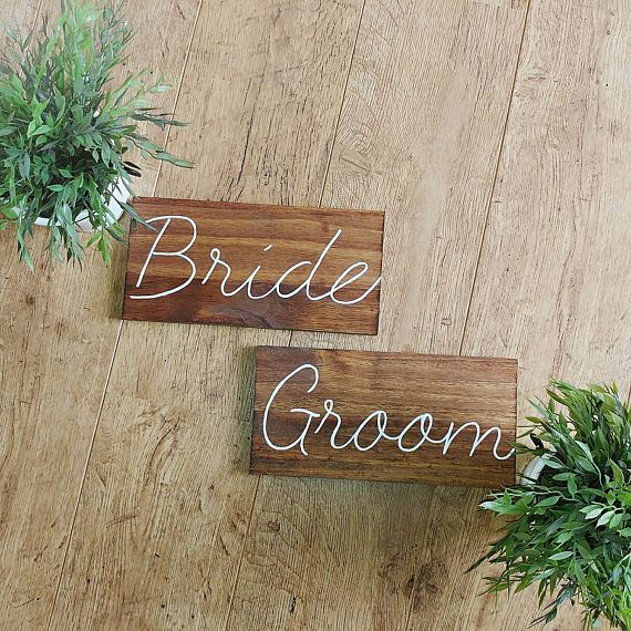 Check out this item in my Etsy shop https://www.etsy.com/ca/listing/534169587/wedding-bride-groom-signs-calligraphy