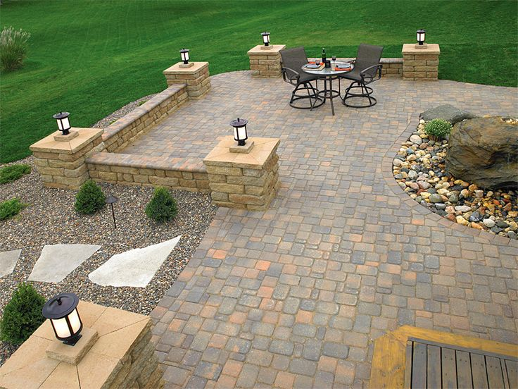 57 best outdoors images on pinterest | backyard ideas, outdoor ... - Brick And Stone Patio Ideas