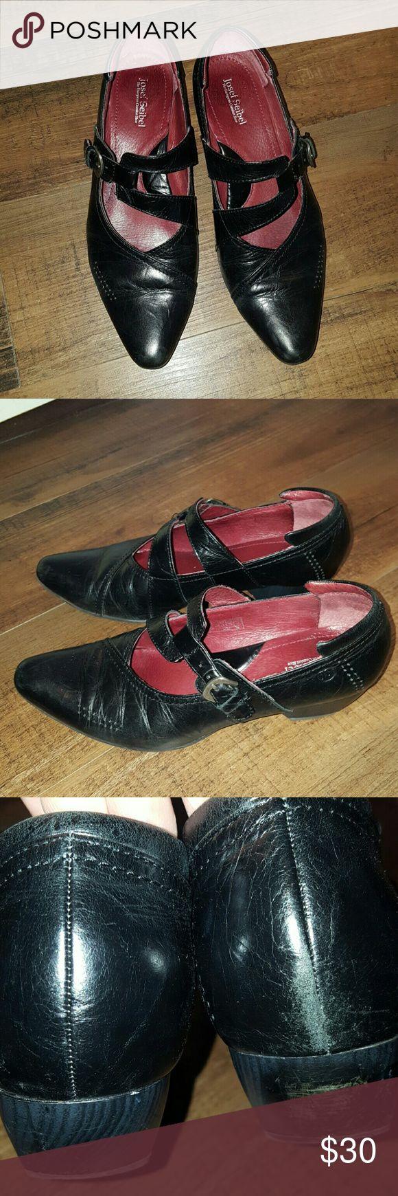 Josef seibel dress shoes Size 38 Josef Seibel black dress shoes. Pre-loved condition. Small heel very comfortable Josef Seibel Shoes Heels