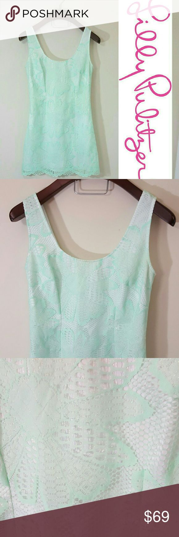 Lilly Pulitzer sparkle lace Lonnie dress!! In excellent condition! Gorgeous Lily Pulitzer dress. Size 10. Beautiful sparkle detail. Size tag (10) is removed. Bra strap snaps to hide bra straps under shoulders :)  Bundle up! Offers always welcome:) Lilly Pulitzer Dresses