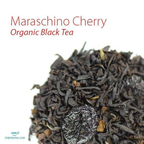 Maraschino Cherry Organic Black Tea Sweet, vibrant and bursting with cherry flavor. Pucker up. Tealightfulteas.com