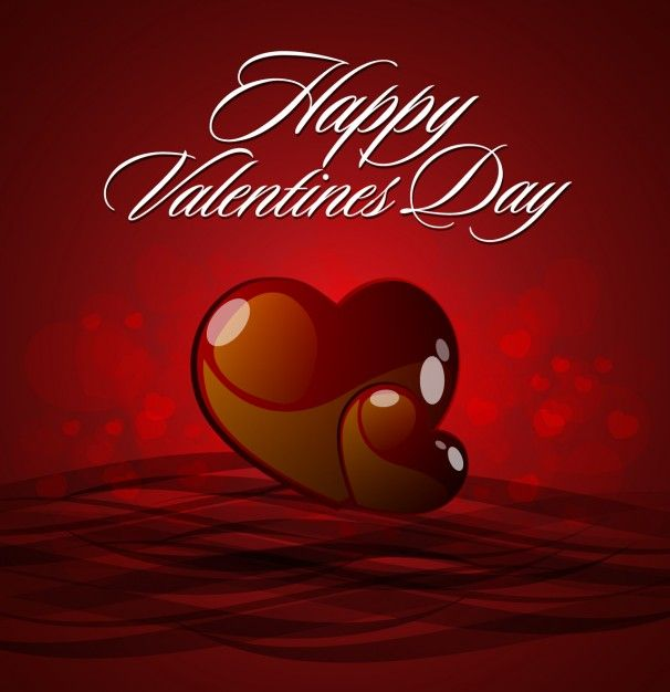 Free vector valentine's day brilliant hearts background #32748