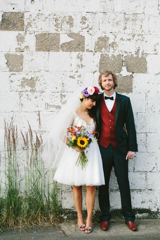 DIY Rainbow Wedding: Amanda & Andre