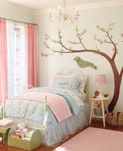 Girls Room - I have always loved this bedskirt from Pottery Barn