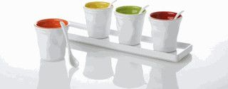 Yedi Coffee Mugs with Tray, Assorted Colors - contemporary - cups and glassware - other metro - by Whole Latte Love